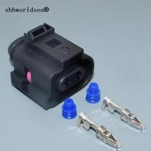 shhworldsea 2 pin 3.5MM auto sensor wiring harness plug 1J0973722A CAR electrical waterproof horn plug 1J0 973 722 A