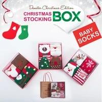 winter new kids socks thickened baby girl socks cartoon warm baby christmas boys socks 4 pairs christmas gift