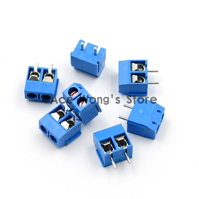 Frete grátis 5.08 - 301 - 2 P 301 - 2 P 100 PCS 2 pino Screw Terminal Block conector 5 mm Pitch ( 100 pçs/lote )