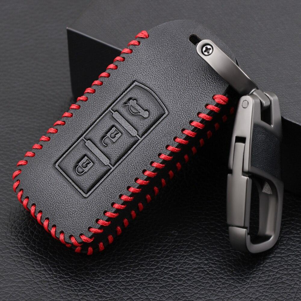 Кожаный чехол для автомобильного ключа, комплект fob для MITSUBISHI OUTLANDER Lancer EX ASX colt Grandis Pajero sport Remote key protection