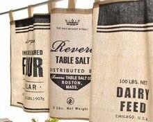 FUYA rideau de cuisine moderne noir blanc   Demi-rideau pour cuisine, Style minimaliste café court panneau B