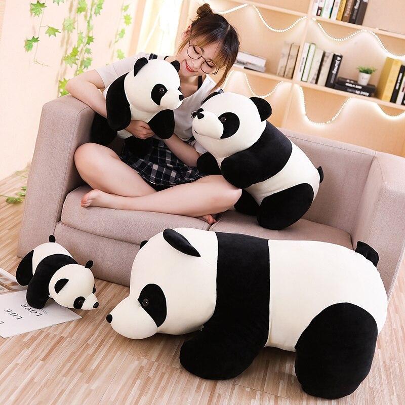 Suave Panda de dibujos animados lindo de La felpa animal relleno Panda juguetes para bebé suave lindo muñeca de regalo, presente de la muñeca de juguetes de los niños