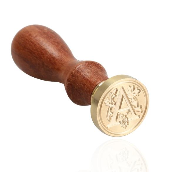 Alfabeto carta de madera Retro cera de sellado clásico sello de cera inicial