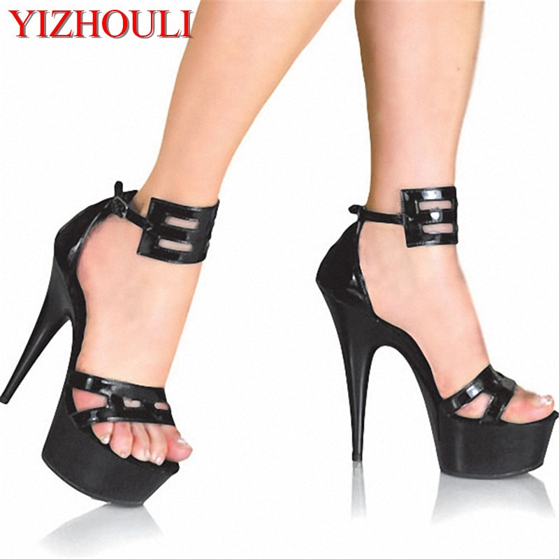 Classics Ankle Strap 15CM High Heel Platforms Pole Dance Shoes Star / Model Shoes, Sandals Party / Wedding Shoes