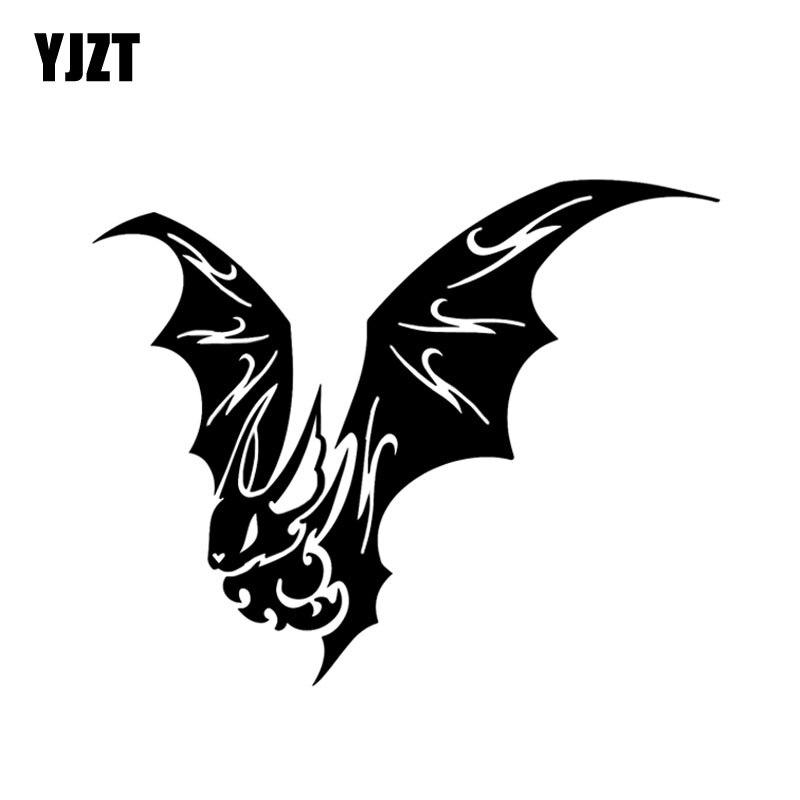 YJZT 11,8*9,5 CM más fresco Bat decoración coche pegatinas vinilo accesorios silueta parachoques ventana motocicleta C12-1059
