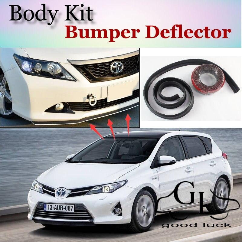 Para TOYOTA Auris Corolla Hatchback para parachoques de Scion iM, adhesivo frontal a prueba de arañazos, Kit corporal, falda de tira