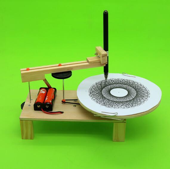 Juego de Robot de dibujo eléctrico DIY, juego de experimentos científicos de física, inventos creativos, juguetes de dibujo en miniatura