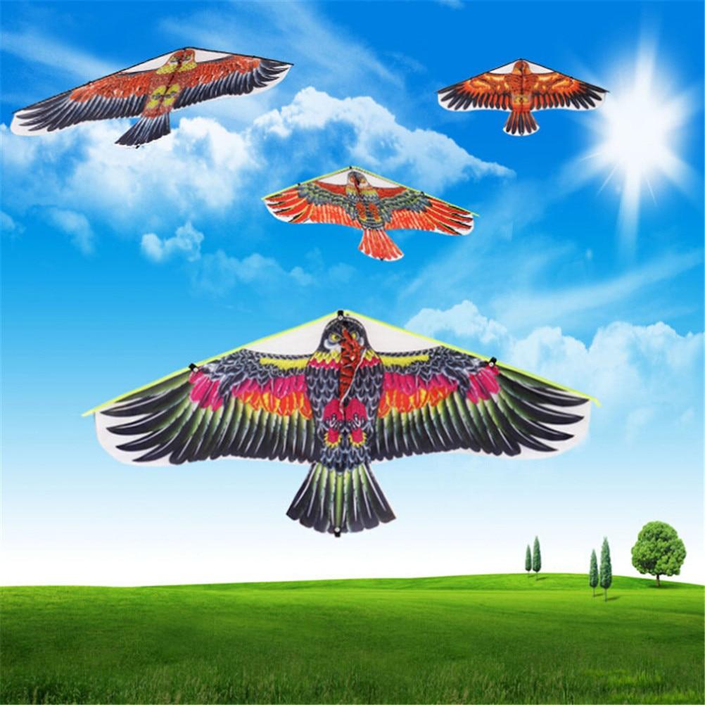 1Pc 102*45cm Flying Bird Kites Windsock Outdoor Toys Garden Cloth Eagle Kite Big Flying Flat Eagle Bird Kite For Children Random