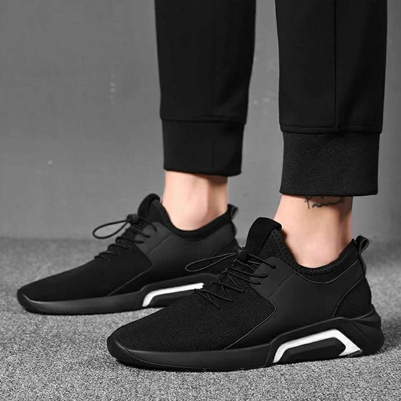 Nuevos zapatos casuales de malla para Hombre Zapatos de encaje cómodos para hombre zapatillas de deporte transpirables para caminar zapatos