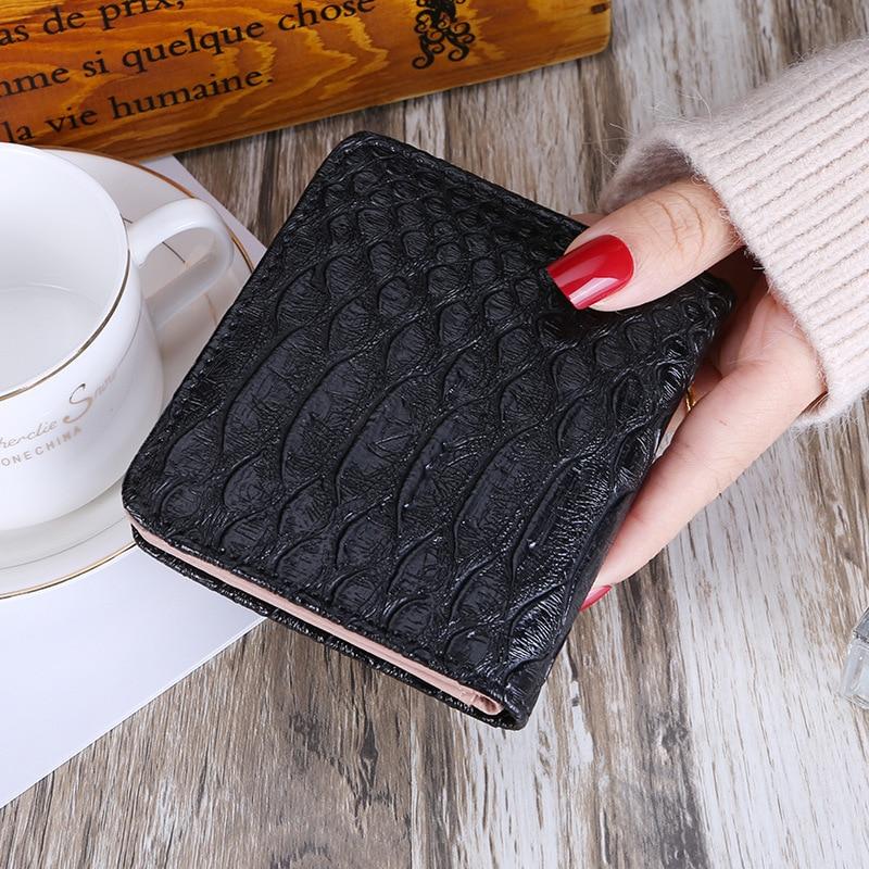 BLEVOLO Curto Carteira Mini Bolsa Ferrolho Coin Pockets Moda Feminina Fino Couro PU Mulheres Clutch Carteiras Bolsas Titular Do Cartão com Foto