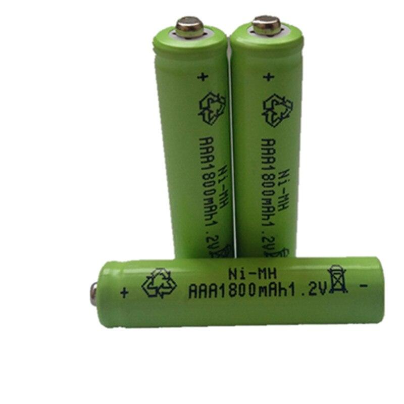 10 Uds AAA 1800mAh 1,2 V batería recargable NI-MH 1,2 V batería recargable 3A
