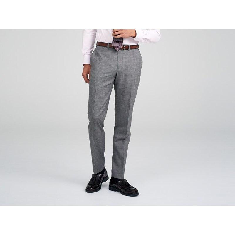 Shenrun Light Gray Men Business Custom Made Pants Skinny 100% Wool Blue Trousers Tailor Made For Men Plus Size Custom Supplier