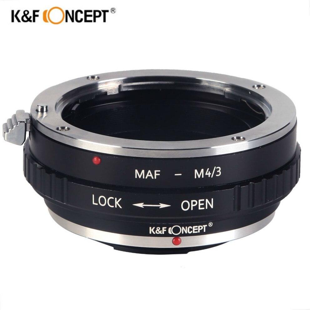 K & F CONCEPT AF-M4/3 anillo adaptador de lente para SONY A AF Alpha Minolta MA lente A MICRO 4/3 cuatro tercios m4/3 Cámara AF-M4/3
