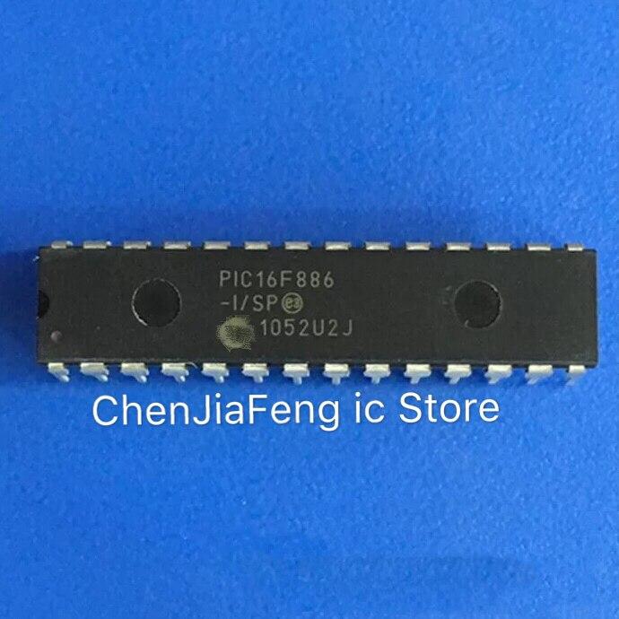 20PCS ~ 50 PCS/LT PIC16F886-I/SP DIP28 original Novo