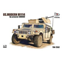 T-MODEL TM-7202 1/72 U.S. M1114 Up-Armored HMMWV w/GPK Turret - Scale Model Kit