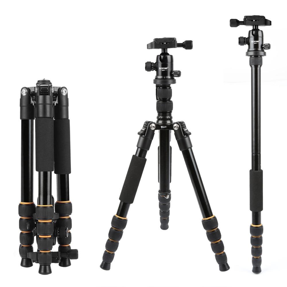Легкий портативный профессиональный штатив для путешествий Q666, штатив из Алюминиевого волокна для цифровой SLR DSLR камеры
