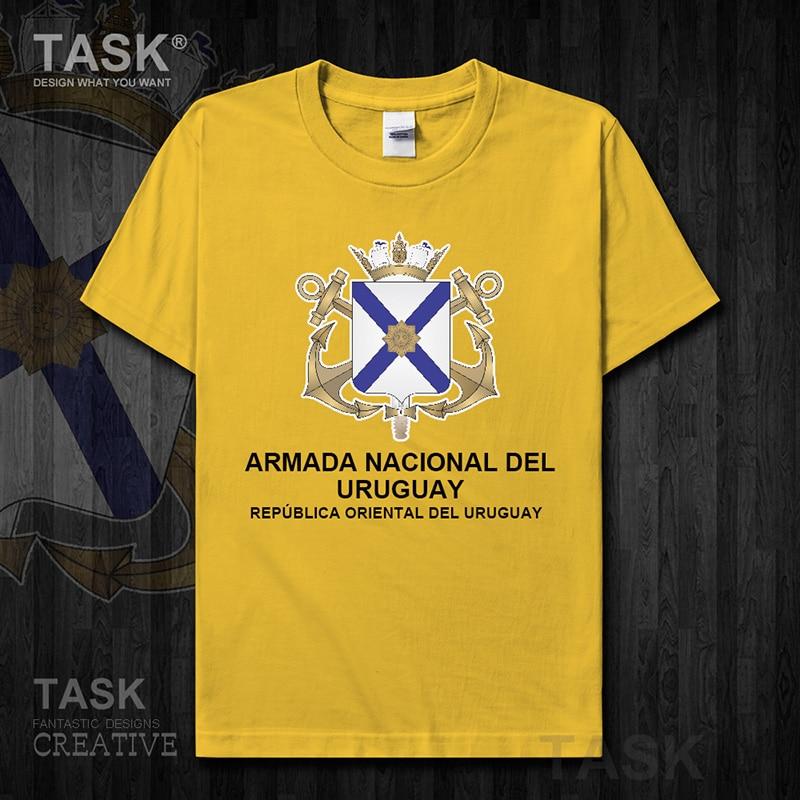 Camiseta de manga corta para hombre de la Marina de Uruguay Uruguaya de lujo, partes superiores nuevas, táctica del ejército militar, deportes de campo, moda de algodón 01