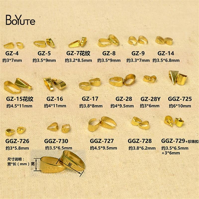 BoYuTe (10000 أجزاء/وحدة) معدن النحاس قلادة قلادة المشبك Diy يدوية مجوهرات النتائج مكونات