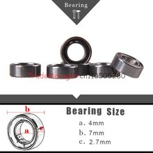 Free shipping10PCS Miniature Radial Ball Bearings Remote control car parts Brand new  4*7*2 .7 impor