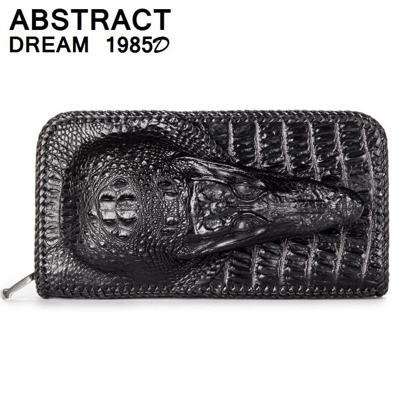 designer men real leather wallet Alligator head Classic multifunction Wallet men's luxury wallets large capacity casual purse