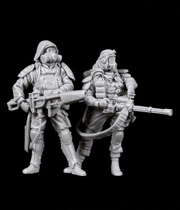 Set de molinillo y exterminador de resina de juguete apocalíptico 1/35 Kit de miniaturas de modelismo sin montar sin pintar