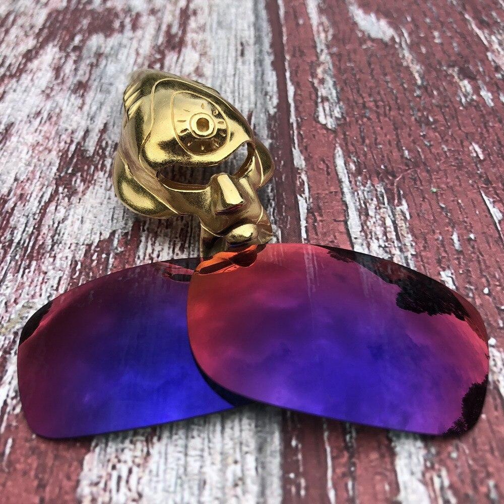 Venta al por mayor Glintbay 100% lentes de repuesto polarizadas de ajuste preciso para gafas de sol cuadradas de los Cinco de Oakley-Espejo solar de medianoche