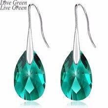 2019 queen girl birthday gifts brand wedding austrian crystal 18KGP sweet tear water Drop Earrings fashion Jewelry women 80335