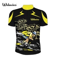 2017 yellow black sportswear team cycling clothing cycling jersey short sleeve cycling wear breathable maillot ciclismo 5232