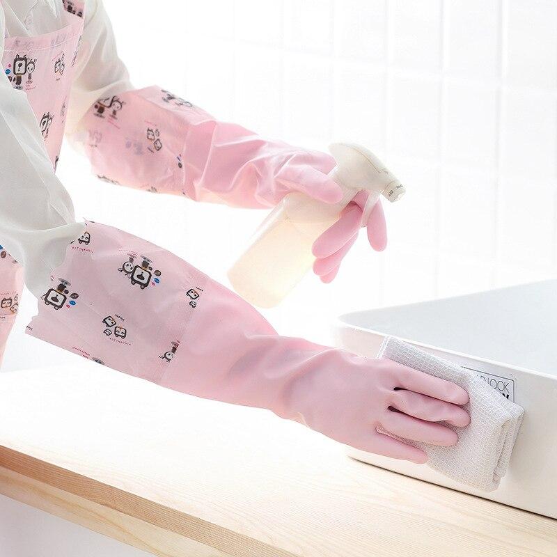 Латексные бытовые перчатки, кухонные толстые резиновые чистящие чаши, моющая одежда, прочные пластиковые водонепроницаемые перчатки для с...