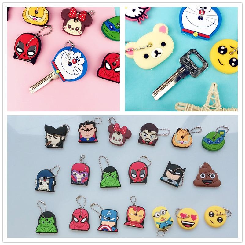 Key Holder Cartoon Silicone Protective key Case Cover For keys Cute Creative PVC Soft Keychain Ornament Pendant