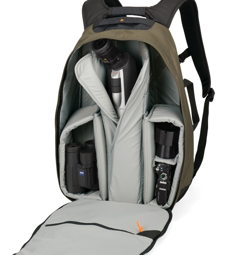 Novo lowepro escopo de viagem 200 aw ocular telescópio ao ar livre mochila slr telefoto lente saco da câmera com capa chuva