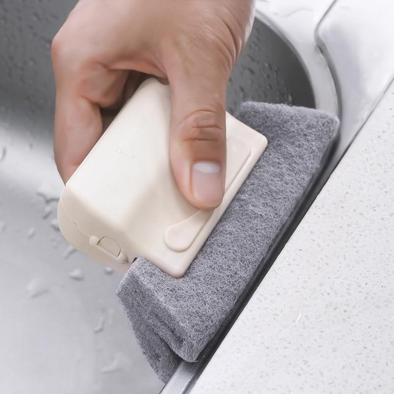 1 pc multifunções Porta Janela Sulco Pista Canto Slot Teclado Escova de Limpeza Da Cozinha Esponja Mão Escova Lacuna Porta Casa
