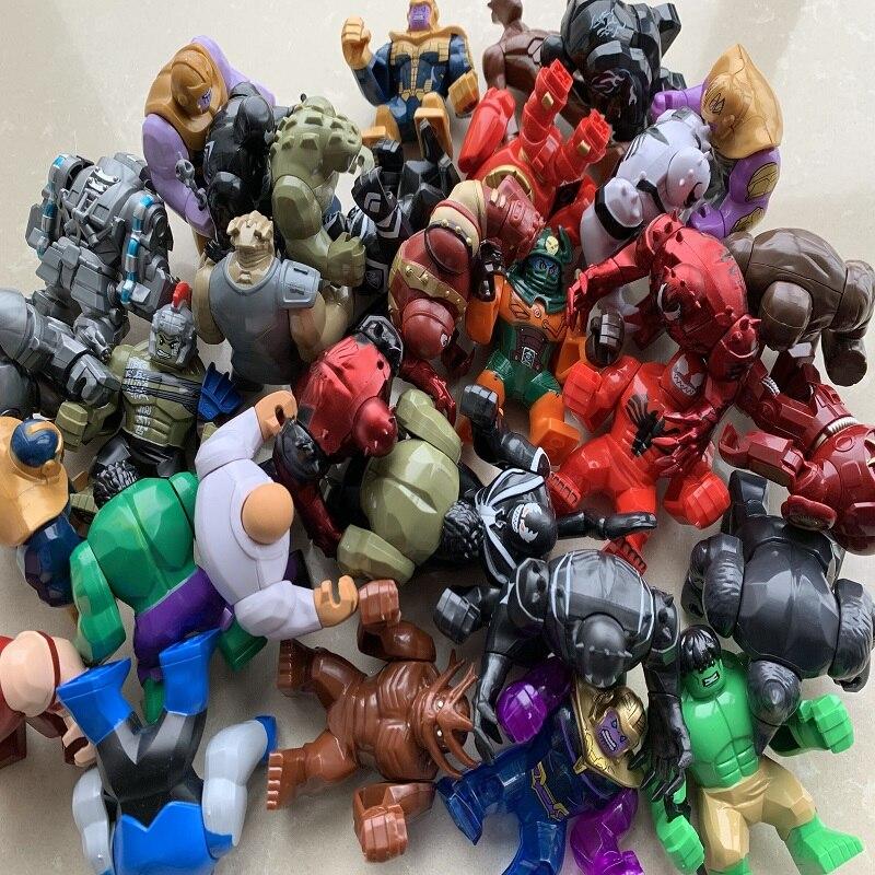 30 Uds al azar gran Thanos grande Anti veneno motín carnicería de hombre de hierro Monger Whiplash Hulkbuster figuras de bloques de construcción Juguetes