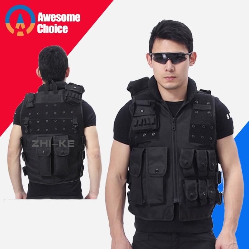 Chaleco táctico militar de calidad para hombres, chaleco de camuflaje para caza Molle, placa de seguridad para tiro de asalto y caza