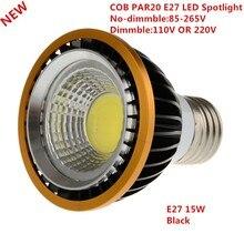 10PCS Newest 15WCOB dimmable PAR20 LED Spot Bulb Lamp Light E27 Warm White/Cool White/White Led Spotlight Downlight Lighting
