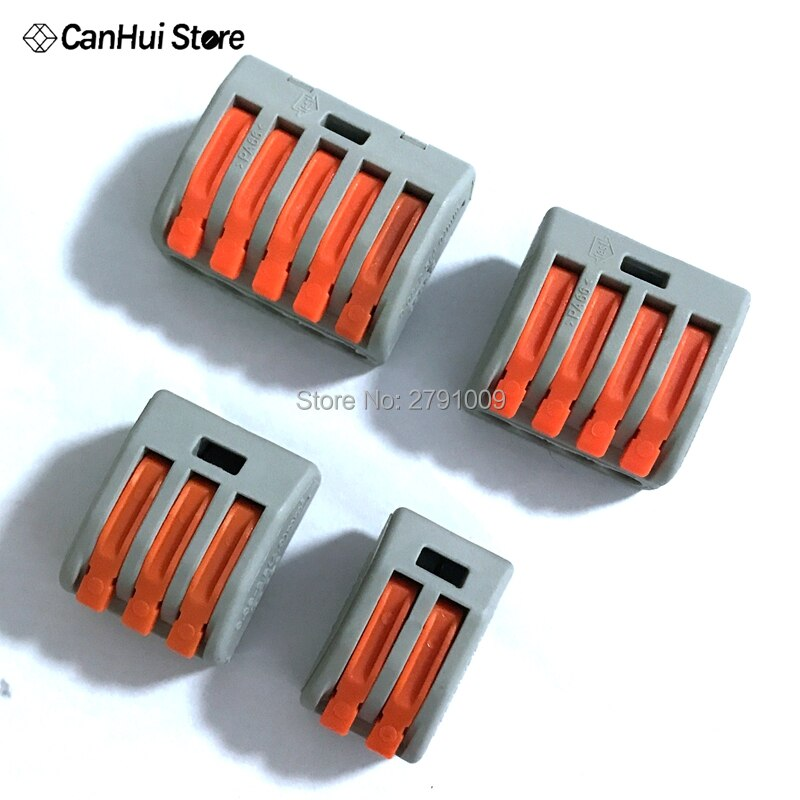 10 stücke 222-415 PCT-212 PCT-213 PCT-214 PCT-215 Universal-Compact Draht Verdrahtung Stecker Leiter Terminal Block Hebel PCT212