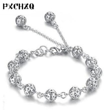 Nouveau beau bracelet exquis sphère creuse femelle couleur argent bijoux mode cadeau exquis classique vent national