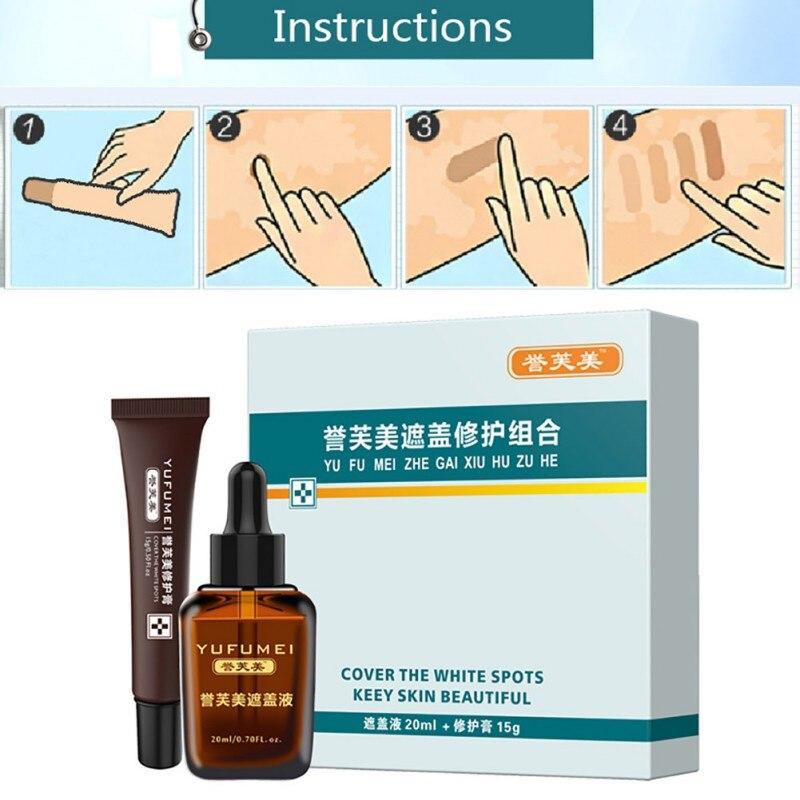 Pro Scar tatuaje Reparación de la piel crema corrector Kit impermeable para cubrir Vitiligo cubrir manchas de nacimiento recién llegado