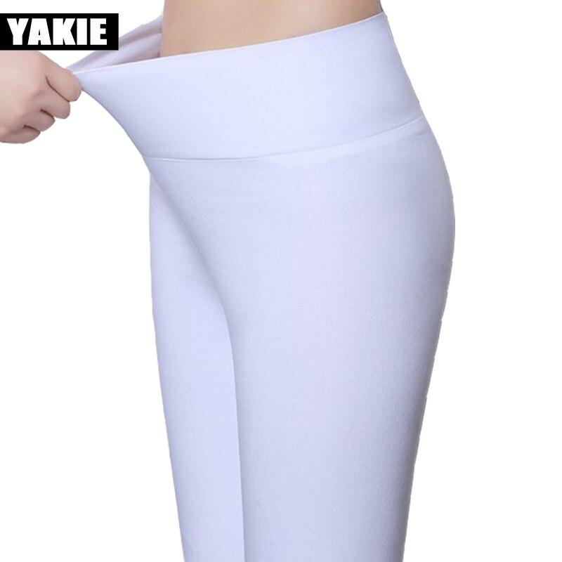 Leggings para mujer de talla grande 5XL 18 colores Color caramelo Verano 2017 cintura alta elásticos office Girls Skinny Leggings pantalones femeninos