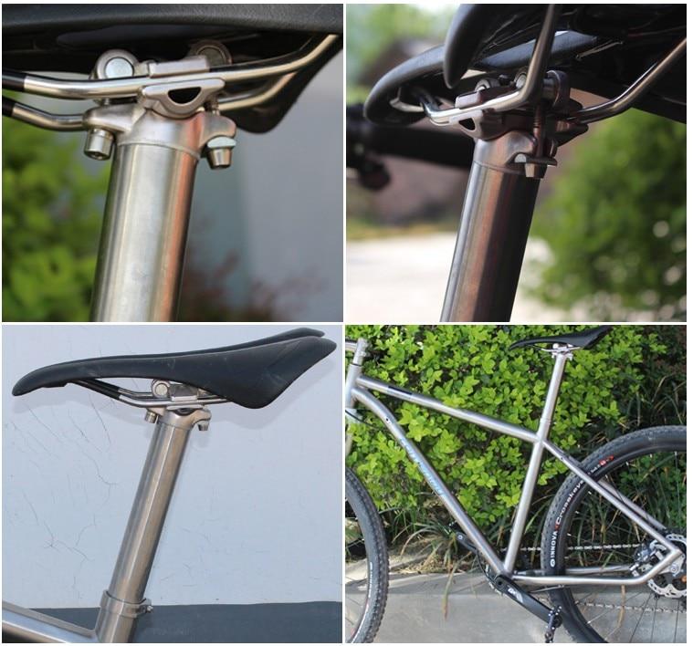 Titanium alloy Bike seatpost for MTB/Road bicycle seat post 27.2/30.9/31.6*350mm seat tube Aluminum head