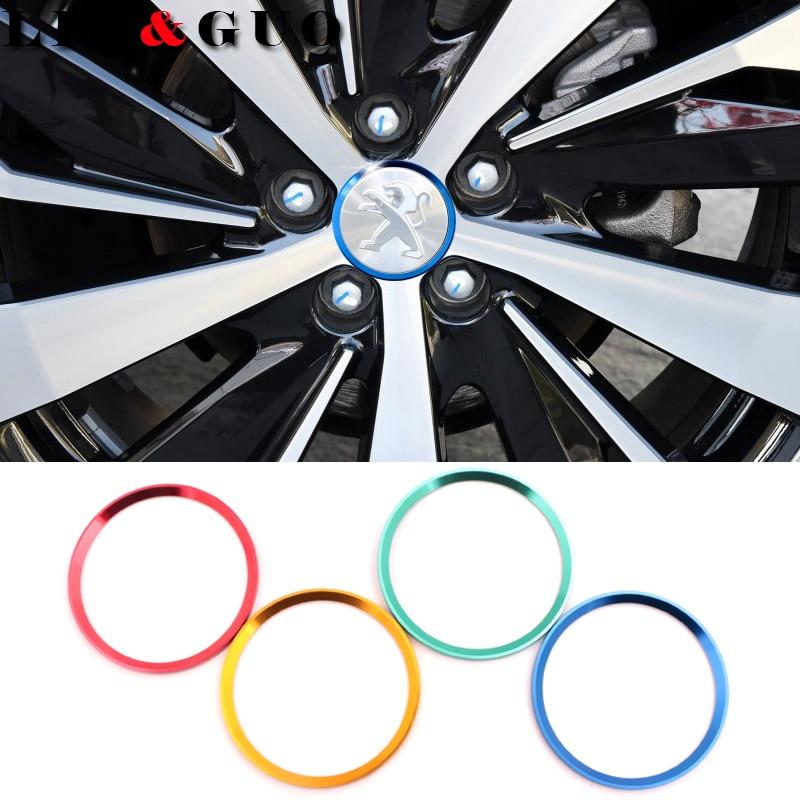 4 pcs/lot New Refitting accessories Car Wheel center decorative circle fit for Peugeot 307 peugeot 206 308 207 406 407 408