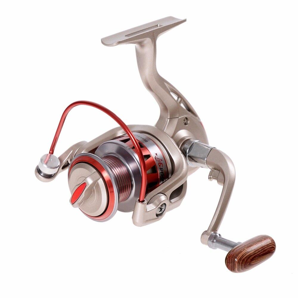 DF 1000-7000 serie 10 rodamientos de bolas de aluminio con mango de Metal izquierdo/Derecho carrete de pesca no hueco 5,5 1 rueda de pesca
