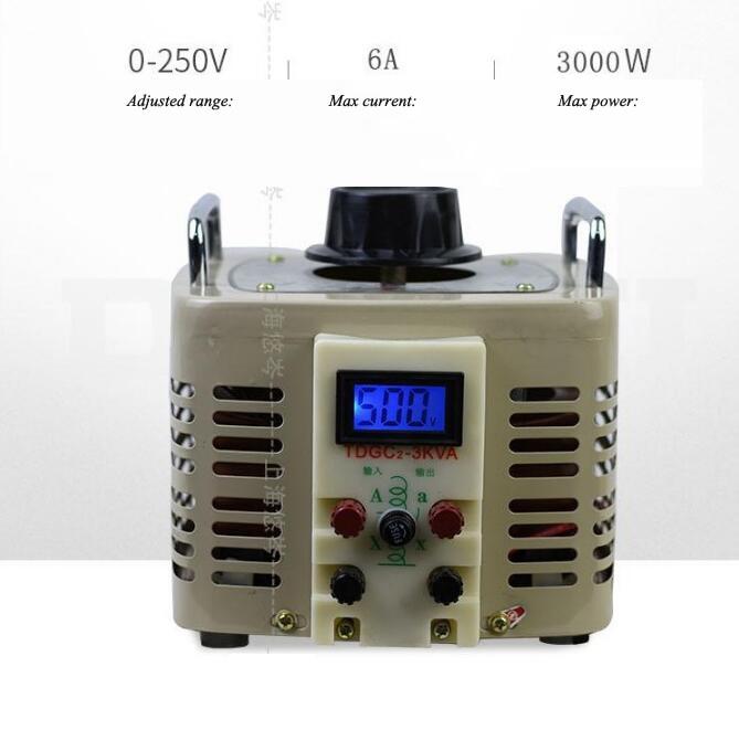Digital Display Voltage Regulator 220v Auto-coupled Contact AC With Output 0-250v Adjustable Voltage Power Supply TDGC2