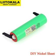 LiitoKala New Original 18650 2500mAh battery INR1865025R 3.6V discharge 20A dedicated batteries + DIY Nickel sheet