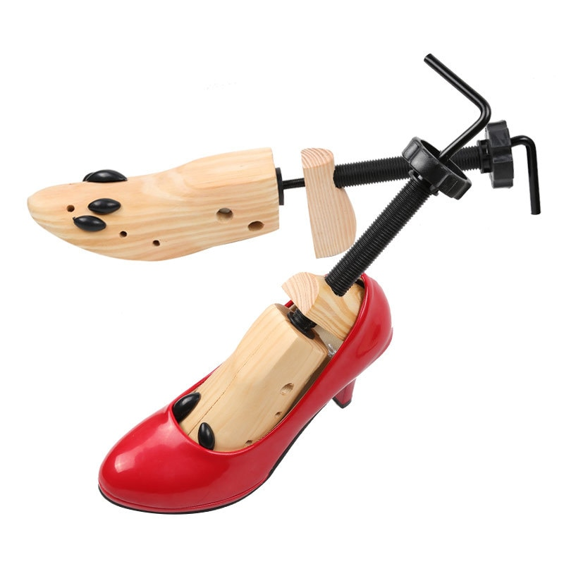 1 Piece Shoe Stretcher Wooden Shoes Tree Shaper Rack Wood Adjustable Flats Pumps Boots Expander Tree