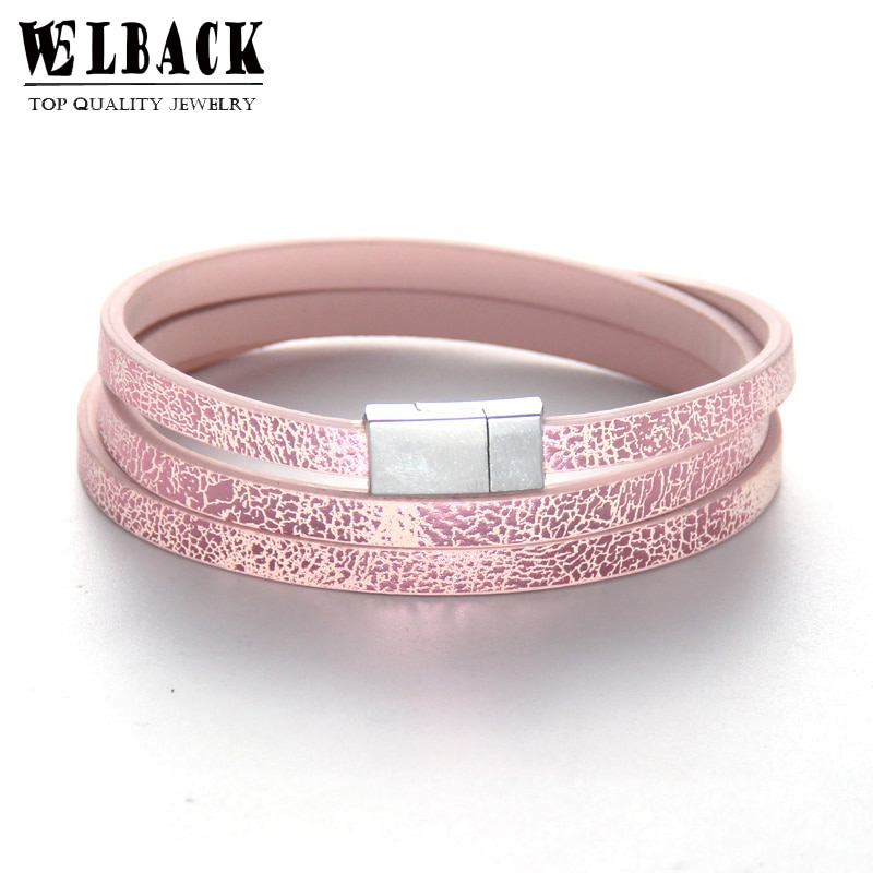 Joyería de moda Welbeck, pulsera informal de cuero fino multicapa estilo punk serpiente para hombres y mujeres