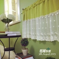 free shipping solid lace hollow beautiful coffee curtain short kitchen curtains for living room bedroom 13060cm