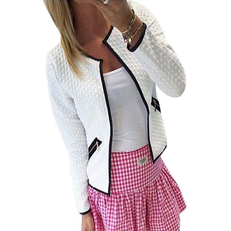 Женские куртки, короткая куртка на весну и осень, Кардиган с длинным рукавом, пальто, облегающие офисные женские куртки и пальто, верхняя оде...