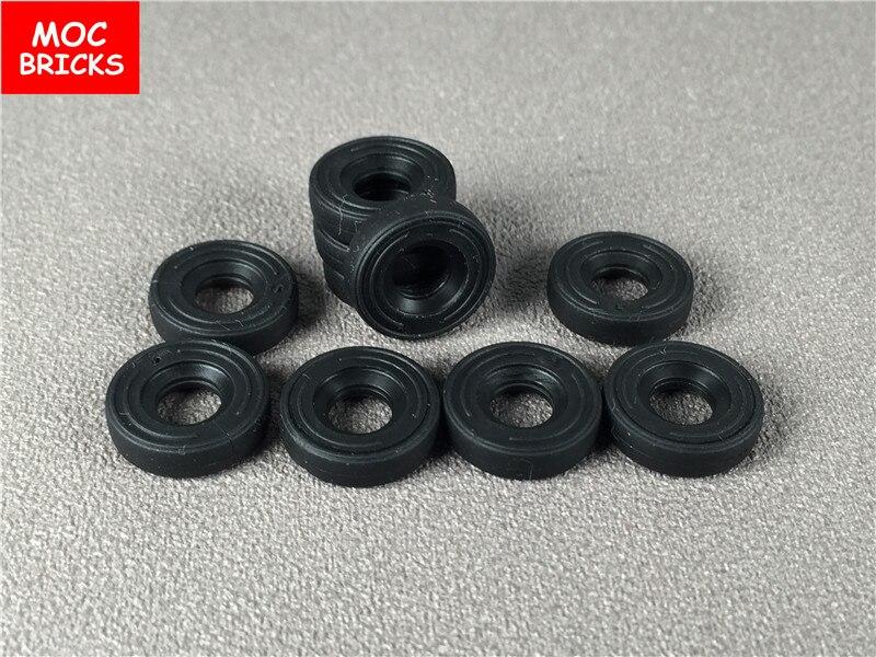 10 unids/lote MOC ladrillos DIY rueda 15mm D x 4mm suave pequeño único nuevo estilo fit con 59895 juguetes figura bloques de construcción niños regalos