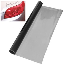 1 Roll Deep Grey Car Headlight Light Sticker Tint Vinyl Wrap Film Sheet 120cmx30cm Auto Brake Tail Lamp Sticker Color Change